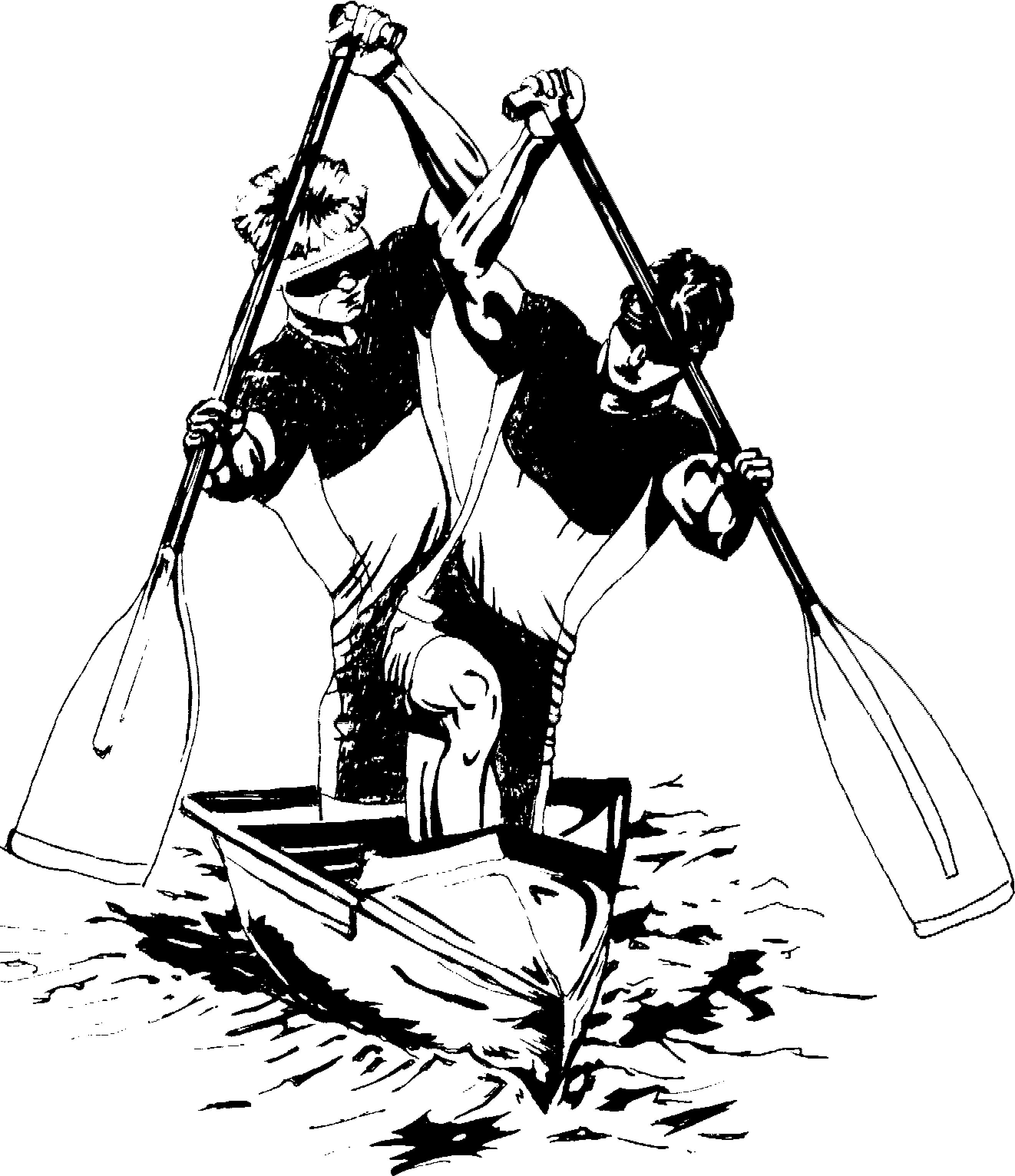 Рисунки гребля на байдарках и каноэ