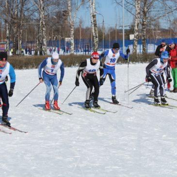 Лыжная эстафета среди гребцов в Старой Купавне